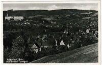 Ansichtskarte Rudolstadt mit Ortsteil Cumbach - Blick auf Ort und Schloss 1936