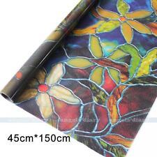 45cm15M Sichtschutzfolie Bunt Blumen Fensterfolie Dekor Folie Static Cling
