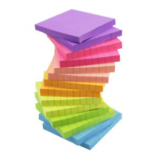 14 Pads 80 Sheet/Pad Sticky Notes with Lines Lined 3x3 Bright Multi Colors New