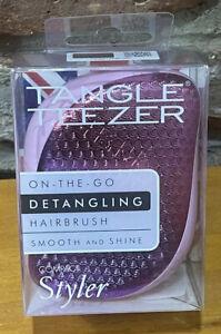 Tangle Teezer Professional Detangling Hair Brush Smooth & Shine Purple Pink NIB