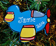 Airplane Ornament U CHOOSE NAME & YEAR Personalized Christmas Kids Children