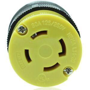 Journeyman Pro 2713 L14-30R 30A Twist Locking Female Connector Generator 4 Prong