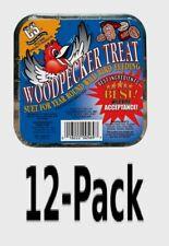 12~C&S Products WOODPECKER TREAT Suet 11 oz Assorted Species Wild Bird 12569 NEW