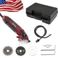 400W Mini Hand Held Circular Saw Cutting Tool Electric Laser Grinder 3 Blades US
