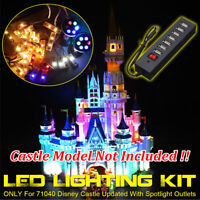 ONLY LED Lighting Kit For LEGO 71040 For Disney Castle Updated With Spotlight ^