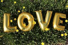 Love Balloons Gold Silver Foil Party Supply Celebration Decoration Letter 14""