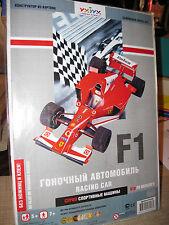 F1 FORMULA 1 RACE CAR #2 PAPER RACE CAR KIT
