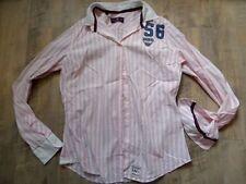 HUBERMAN´S schöne rosa weiß gestreifte Bluse Gr. L NEUw.  KoS817