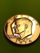 1974-S Eisenhower Dollar Ike - Gem Proof Cameo Copper/clad