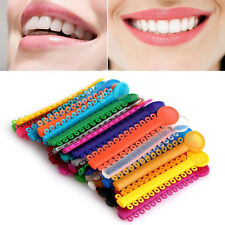 3Pcs Dental Ligature Ties Orthodontics Elastic Multi Color Rubber Bands Supplies
