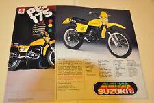 ORIGINAL 1978 PE 250  Suzuki Motorcycle Brochure