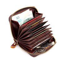 Echt Leder Portemonnaie Portmonee Kartenetui Kreditkarte Visitenkartenetui