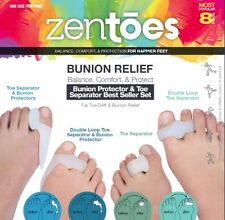 ZenToes Bunion Protector and Toe Separator Variety Pack 4 Pairs Ships USA
