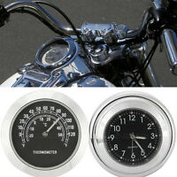 Motorcycle Clock Thermometer for Victory Cross Country Jackpot Kingpin Vegas
