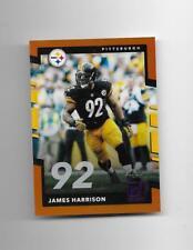 2015 Donruss - JAMES HARRISON - Jersey Number Blue - STEELERS #d 36/92