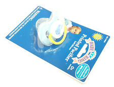 New Baby King Whale Soft Silicone Pacifier Binky 0+ Months Bpa Free Blue
