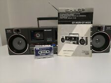 Sharp QT-90(D) Vintage Boombox Twin Cassette Radio(Made in Japan)