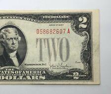 1928-F $2 Red Seal Dollar Bill Legal Tender Note Better Grade (P207)