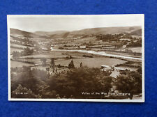 Sepia postcard: Montgomeryshire, view of the River Wye from Llangurig