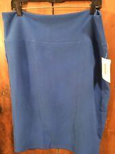 LuLaRoe Cassie Skirt 2XL Solid Sapphire Blue
