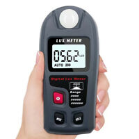 LCD Digital Luxmeter Luminometer Photometer Light Meter Gauge Include Battery