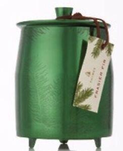 Thymes Frasier Fir Green Metal Tin Medium Candle 9.5 oz / 270g