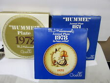 Goebel Hummel Annual Collector Plates 1972 1974 1978 Orig Boxes Xlnt Cond