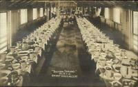 Fort Oglethorpe Camp Greenleaf WWI MOTC Dining Mess Hall Real Photo Postcard