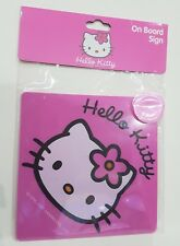 Hello Kitty On Board Sign Hello Kitty With Suction Cup