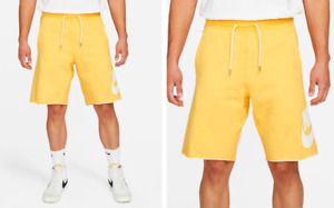 NWT Nike Sportswear Men's Shorts 100% Cotton Vintage Look AT5267-739 Gold/Yellow