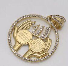 ISLAMIC JEWELLERY GOLD TONE  ALLAH/ AYATUL KURSI /AL QALAM  PRAYER HANDS PENDANT