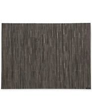 """Chilewich 14"""" x 19"""" Bamboo Woven Vinyl Placemat, Grey Flannel"""
