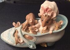 Mother Mouse & Children Living In A Shoe Money Box Border Fine Arts FW & Co 1994