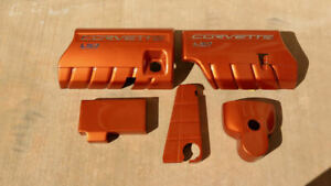 C6 Corvette Atomic Orange Painted Engine Covers