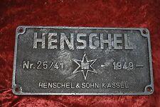 Henschel Industrieschild