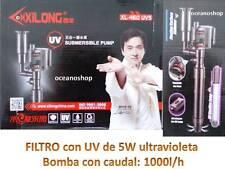 FILTRO INTERNO 1000l/h interior LAMPARA 5w  ULTRAVIOLETA UV acuario pecera