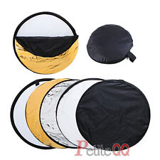 """New 5in1 Collapsible Disc Photo Studio Light Multi Reflector Panel Bag 32"""" 80cm"""