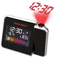Wall Projection Digital Weather Humidity LED LCD Snooze Temperature Alarm Clock