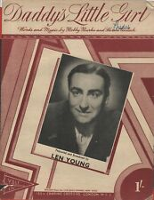 """VINTAGE SHEET  MUSIC - """"DADDY'S LITTLE GIRL"""" - LEN YOUNG - YALE MUSIC (1949)"""