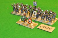 25mm dark ages / byzantine - infantry 22 figs (as photo) - (49664)