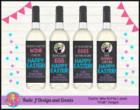 ** PERSONALISED FUNNY EASTER GIFT WINE BOTTLE LABELS GIFTS PRESENTS CUSTOM **