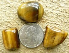 Tiger eye cabochons a set of 3 a rectangle an oval and a pie cut total 92.5 cts.