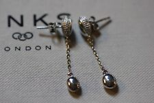 GENUINE LINKS OF LONDON MASQUERADE STERLING SILVER LONG DROP EARRINGS -5040.2970