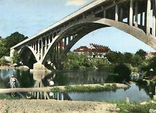 Carte BOURBON LANCY Le Fourneau Pont sur la Loire et la plage