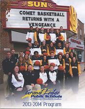 2013-14 GRAND LEDGE (MICHIGAN) BASKETBALL PROGRAM (30 PAGES, BOTH BOYS & GIRLS)