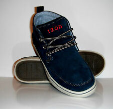 New Izod Men Philip-1 Navy Suede Lace-Up Fashion Sneaker Shoe sz 8