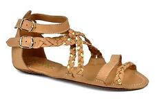 Femmes taille 4 maloles isabella beige 100% cuir designer sandales neuf rrp £ 200