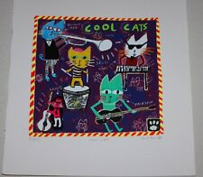 "Serigraph By Dave Faville ""COOL CATS"" 10"" x 10"""