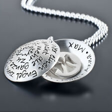 EINEN ENGEL ZUM FREUND 925 Silber Medaillon mit Gravur Namenskette