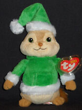 TY THEODORE the CHIPMUNK BEANIE BABY - HOLIDAY / CHRISTMAS - MINT with MINT TAG